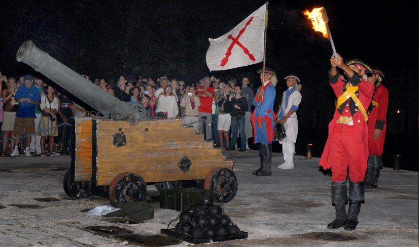 Ceremonia del cañonazo, Habana